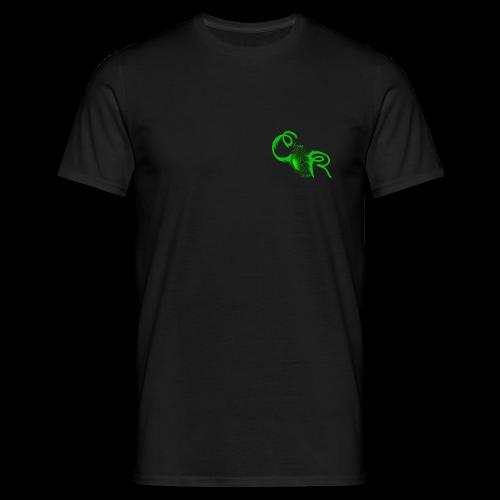 Herren T-Shirt ChaosRoom Logo grün klein - Männer T-Shirt