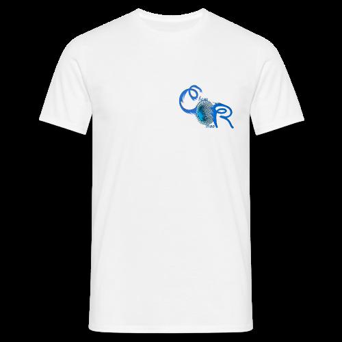 Herren T-Shirt ChaosRoom Logo blau klein - Männer T-Shirt