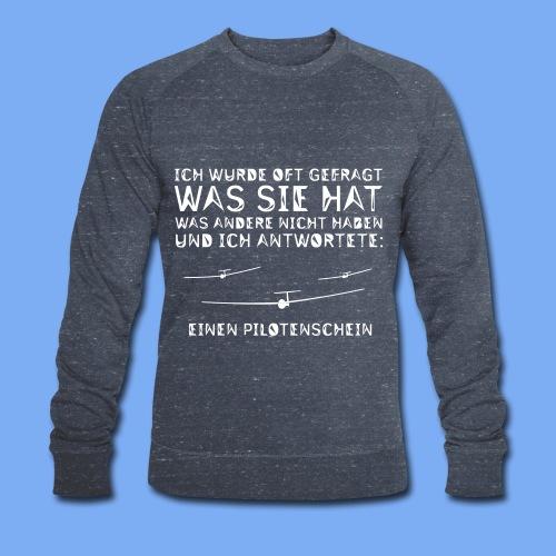 Lustiger Spruch Geschenk für Segelflieger Flieschen - Men's Organic Sweatshirt by Stanley & Stella