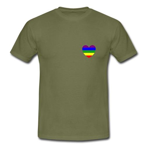 Gay Trainingsjacke Rainbow Heart  - Männer T-Shirt