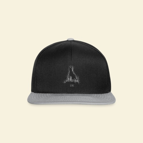 Malinois black&white  - Snapback Cap