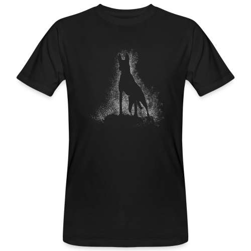 Dog Silhouette - Männer Bio-T-Shirt