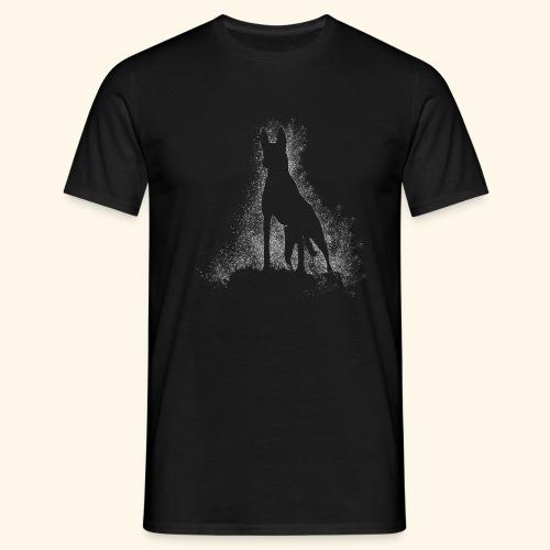 Dog Silhouette - Männer T-Shirt