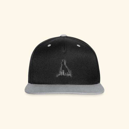 Dog Silhouette - Kontrast Snapback Cap