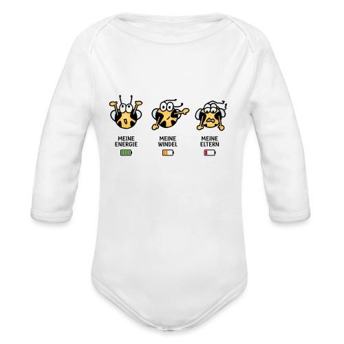 Akku - Baby Bio-Langarm-Body