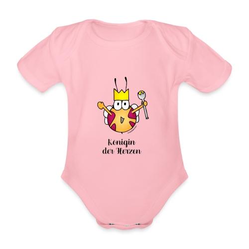 Königin der Herzen - Baby Bio-Kurzarm-Body