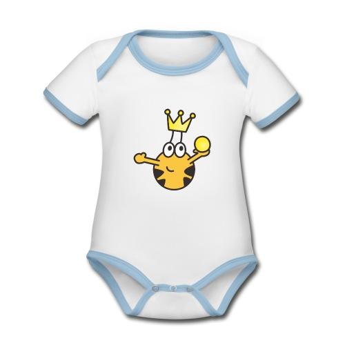 Verzauberter Prinz - Baby Bio-Kurzarm-Kontrastbody
