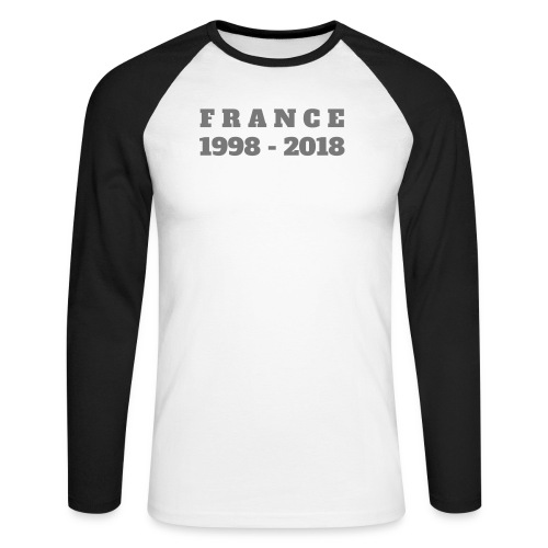 FRANCE 1998-2018 - T-shirt baseball manches longues Homme