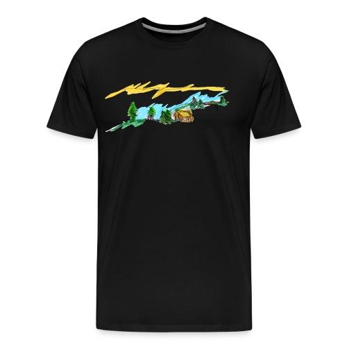 Berghütte - Männer Premium T-Shirt