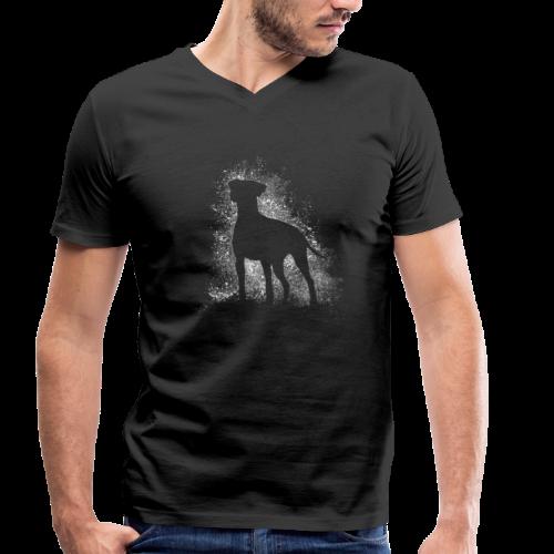 Dobi Silhouette - Männer Bio-T-Shirt mit V-Ausschnitt von Stanley & Stella