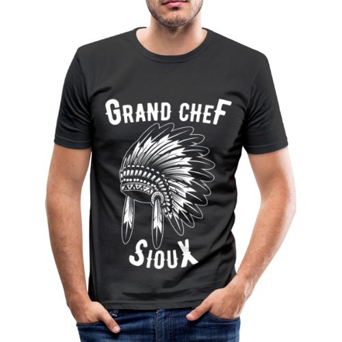 Grand Chef Sioux Tee shirts - T-shirt près du corps Homme