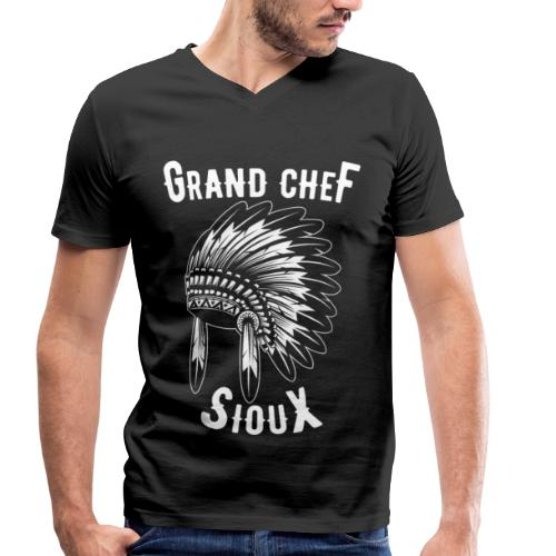 Grand Chef Sioux Tee shirts - T-shirt bio col V Stanley & Stella Homme