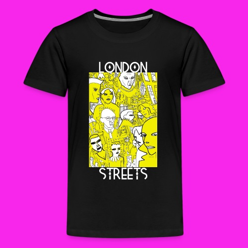 London Streets Luscious Gold - Teenage Premium T-Shirt