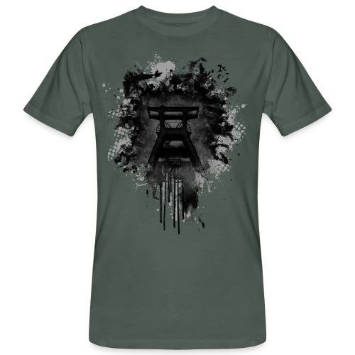 dirty Förderturm im Pott - Männer Bio-T-Shirt
