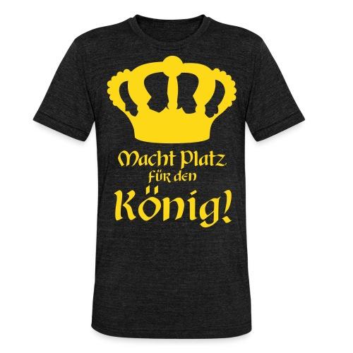 Macht Platz für den König - Gold-glitzernd - Unisex Tri-Blend T-Shirt von Bella + Canvas