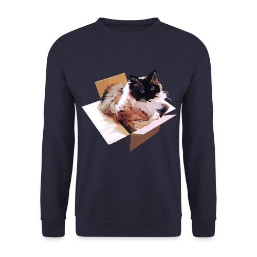 Ragdoll-Katze im Karton - Männer Pullover