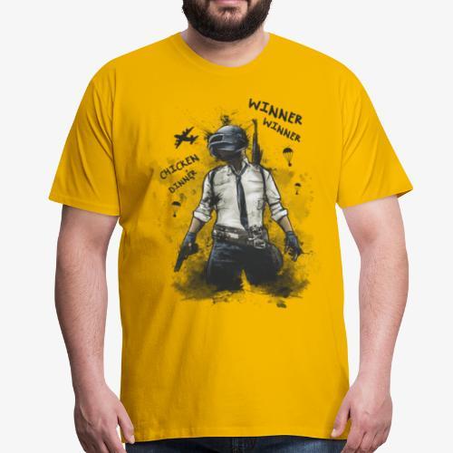 OutKasts.EU PUBG Chicken Dinner Men's Premium T-Shirt - Men's Premium T-Shirt