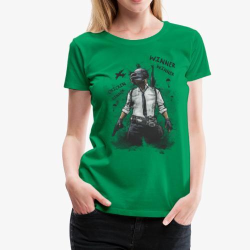 OutKasts.EU PUBG Chicken Dinner Women's Premium T-Shirt - Women's Premium T-Shirt