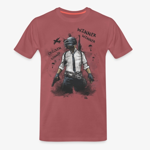 OutKasts.EU PUBG Chicken Dinner Men's Premium T-Shirt - Men's Premium T-Shirt