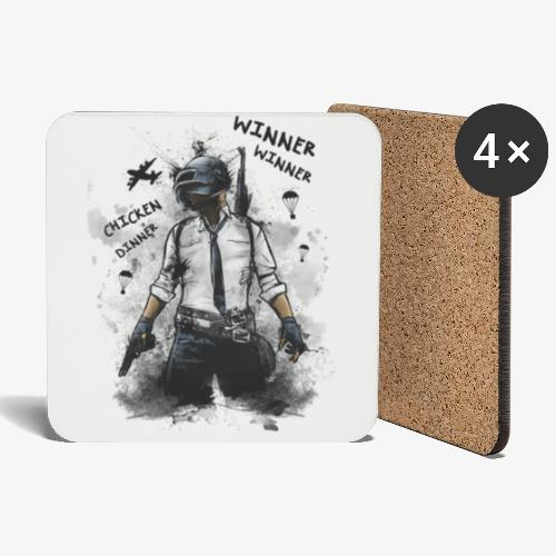 OutKasts.EU PUBG Chicken Dinner Coasters (set of 4) - Coasters (set of 4)