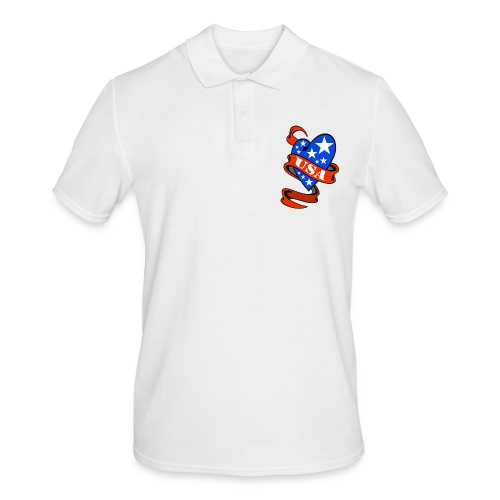 USA Heart - Polo Homme