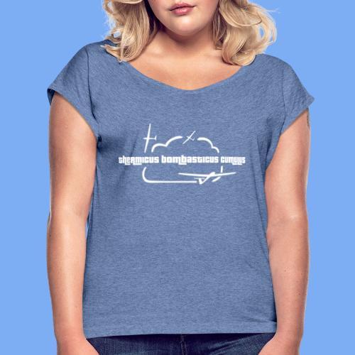Segelflugzeug Pilot Segelflieger Geschenk T-Shirt - Women's T-Shirt with rolled up sleeves