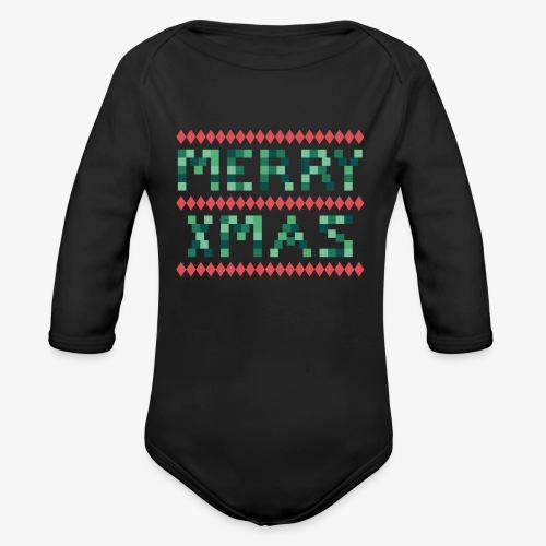 Merry X-Mas Ugly 1 Baby Bodys - Baby Bio-Langarm-Body