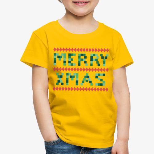 Merry X-Mas Ugly 1 T-Shirts - Kinder Premium T-Shirt