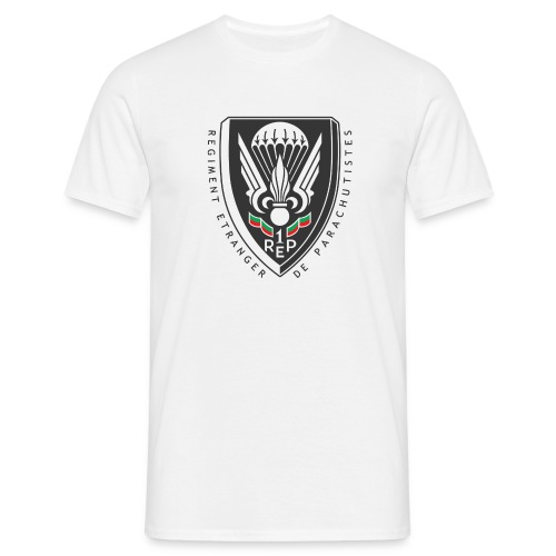 1er REP Badge - Foreign Legion - White T-Shirt - Men's T-Shirt