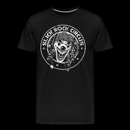 Slick Rock Circus - Evil Clown Monochrome T-Shirt - Männer Premium T-Shirt
