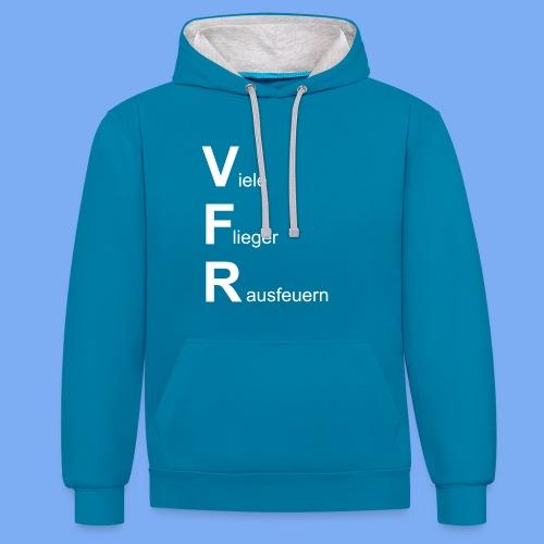 VFR - viele Flieger rausfeuern - Piloten Bekleidung lustig Geschenkidee - Contrast Colour Hoodie