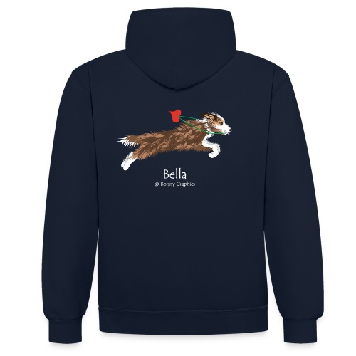 Bella custom design (design on reverse) - Contrast Colour Hoodie