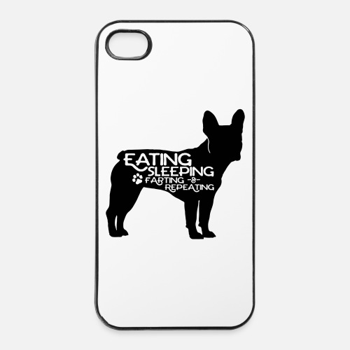 French Bulldog - Eat, Sleep, Fart & Repeat - iPhone 4/4s Hard Case
