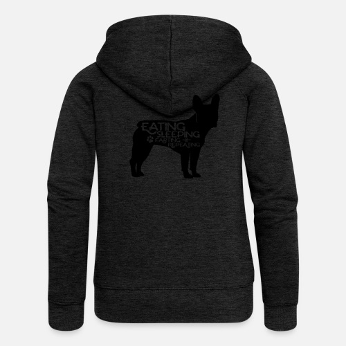 French Bulldog - Eat, Sleep, Fart & Repeat - Frauen Premium Kapuzenjacke