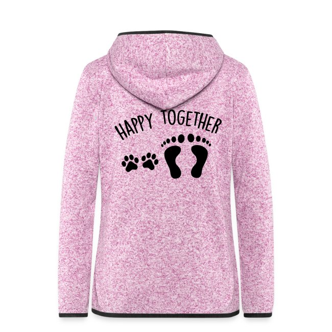 4bbb4f62 DOG FANSHOP | Women's Hooded Fleece Jacket - happy together ...