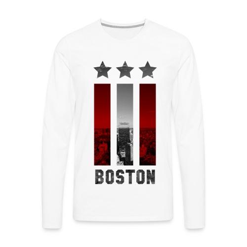 BOSTON PULLOVER - Männer Premium Langarmshirt