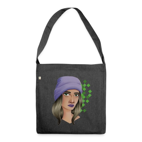 Violette Beanie - Schultertasche aus Recycling-Material