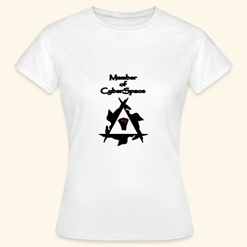 deltaSocialFISTCyberSpace - GirlyShirt (Gy-Shirt) - Frauen T-Shirt
