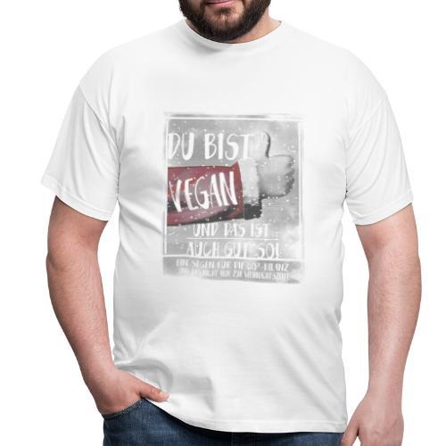 Weihnachten, Vegan, Daumen hoch, P-ID 515170781 - Männer T-Shirt