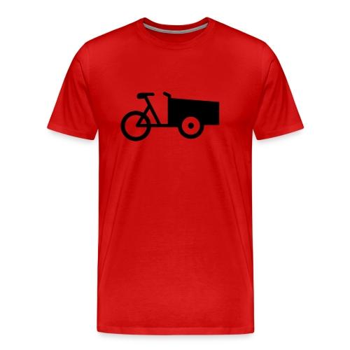 bakfiets tshirt - Mannen Premium T-shirt