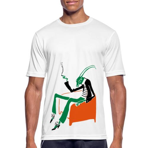 Reclining Cricket - Men's Breathable T-Shirt