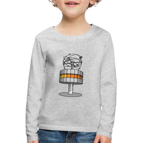 Weltzeituhr in Berlin - Kinder Premium Langarmshirt