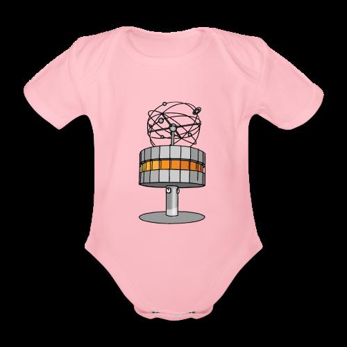 Weltzeituhr in Berlin - Baby Bio-Kurzarm-Body