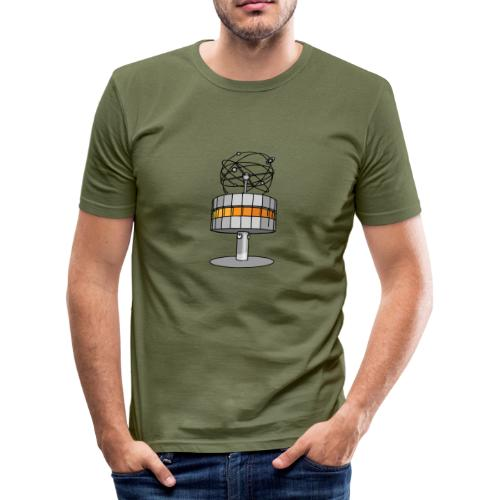 Weltzeituhr in Berlin - Männer Slim Fit T-Shirt
