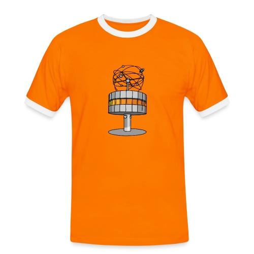 Weltzeituhr in Berlin - Männer Kontrast-T-Shirt