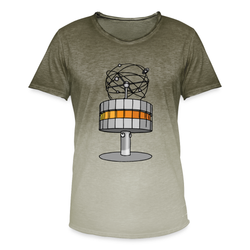 Weltzeituhr in Berlin - Männer T-Shirt mit Farbverlauf