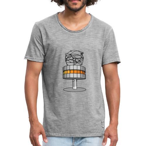 Weltzeituhr in Berlin - Männer Vintage T-Shirt