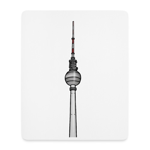 Fernsehturm Berlin c - Mousepad (Hochformat)