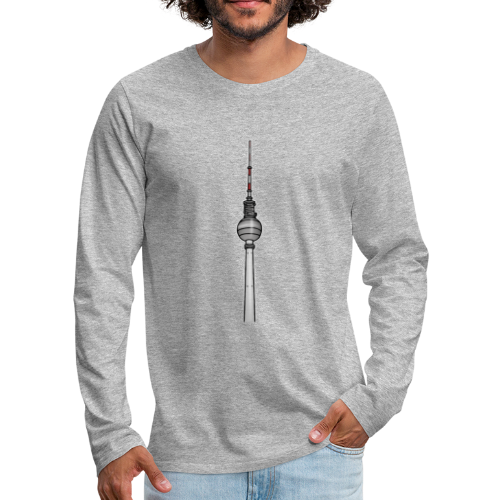 Fernsehturm Berlin c - Männer Premium Langarmshirt