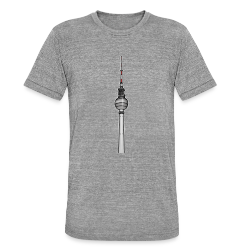 Fernsehturm Berlin c - Unisex Tri-Blend T-Shirt von Bella + Canvas